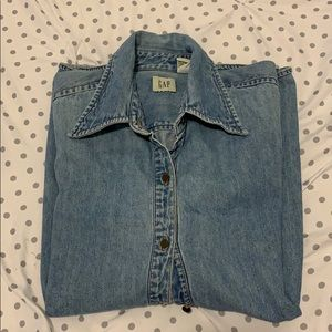 Vintage GAP denim long sleeve button down